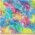 Cotton Jersey Knit Abstract Bright Multi