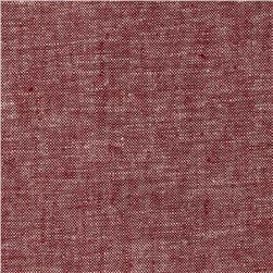 Kaufman Brussels Washer Linen Blend Yarn Dye Red