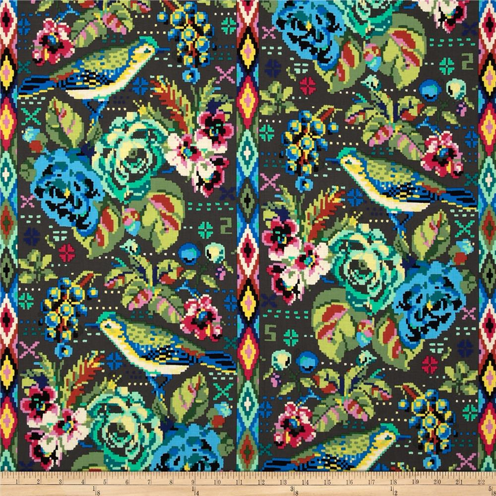 Amy butler hapi celestial dusk discount designer fabric for Celestial pattern fabric