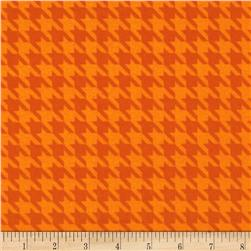 The Farm at Whistle Pig Creek Flannel Houndstooth Orange
