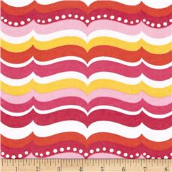 Alpine Flannel Turtles Waves Pink