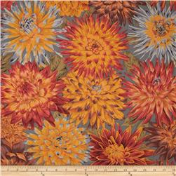 Kaffe Fassett Collective Cactus Dahlia Gold Fabric