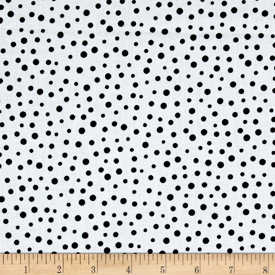 Susybee Gwyn the Penguin Dot White Black Fabric by Susybee in USA