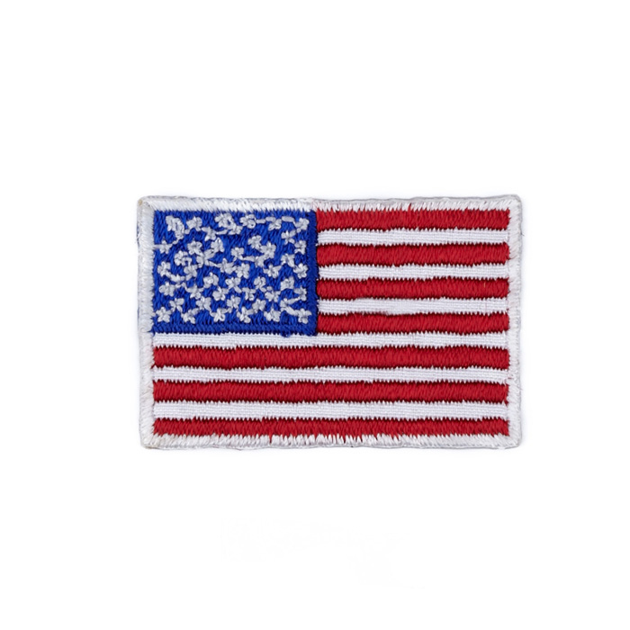 Boutique Applique American Flag Red/White