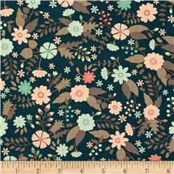 Flourish Floral Dark Teal