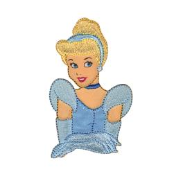 Disney Princess Iron On Applique Cinderella
