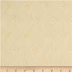 Kaufman Rebecca Embroidered Eyelet Flower Natural Fabric