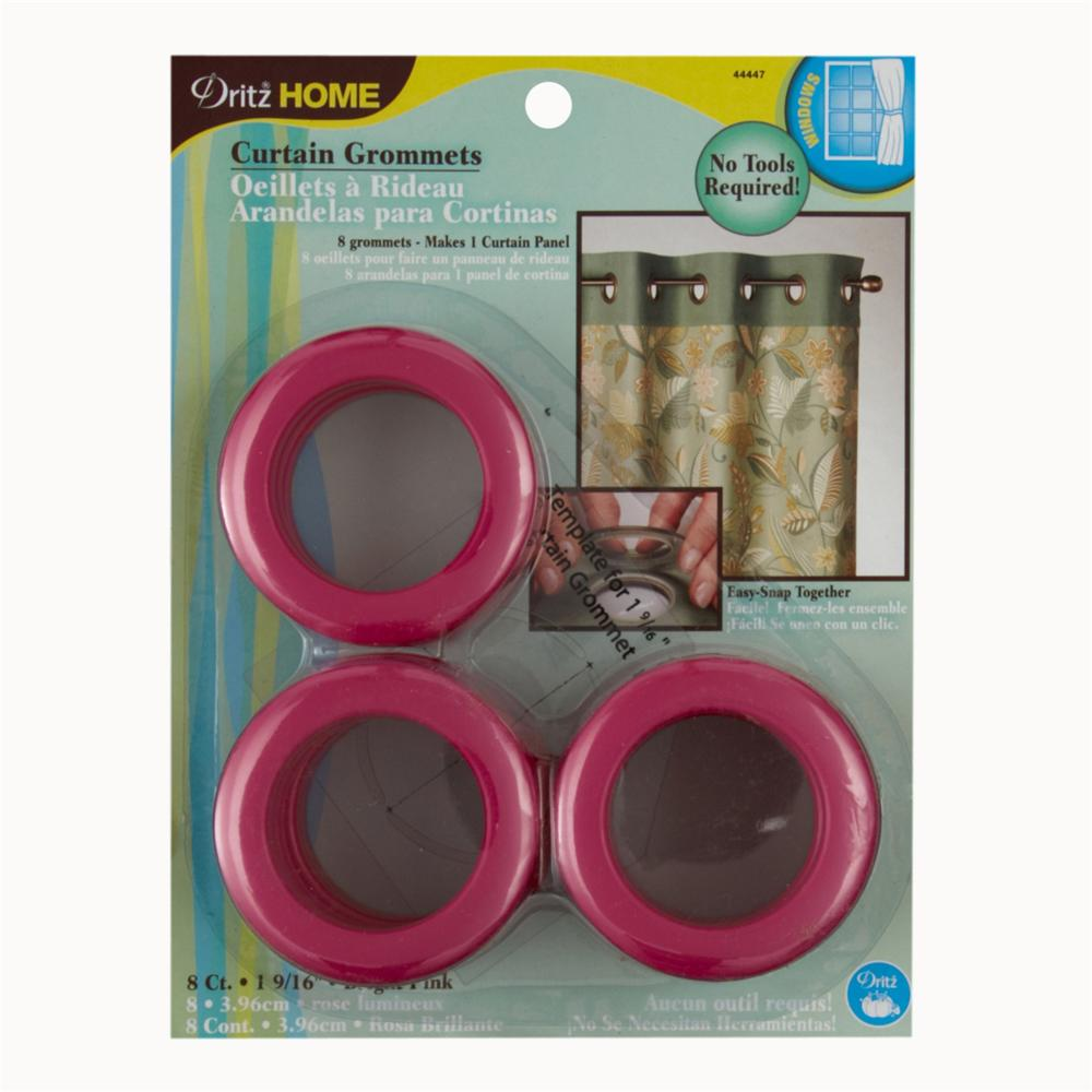 "Curtain Grommets 1 9/16"" Hot Pink"