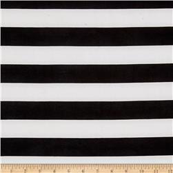 Techno Scuba Knit Large Stripe Black/White
