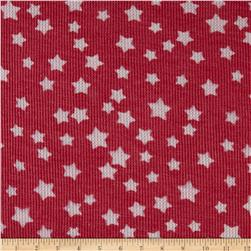 Thermal Knit Assorted Stars Coral Red / Gray