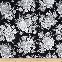 French Laundry Large Floral Black
