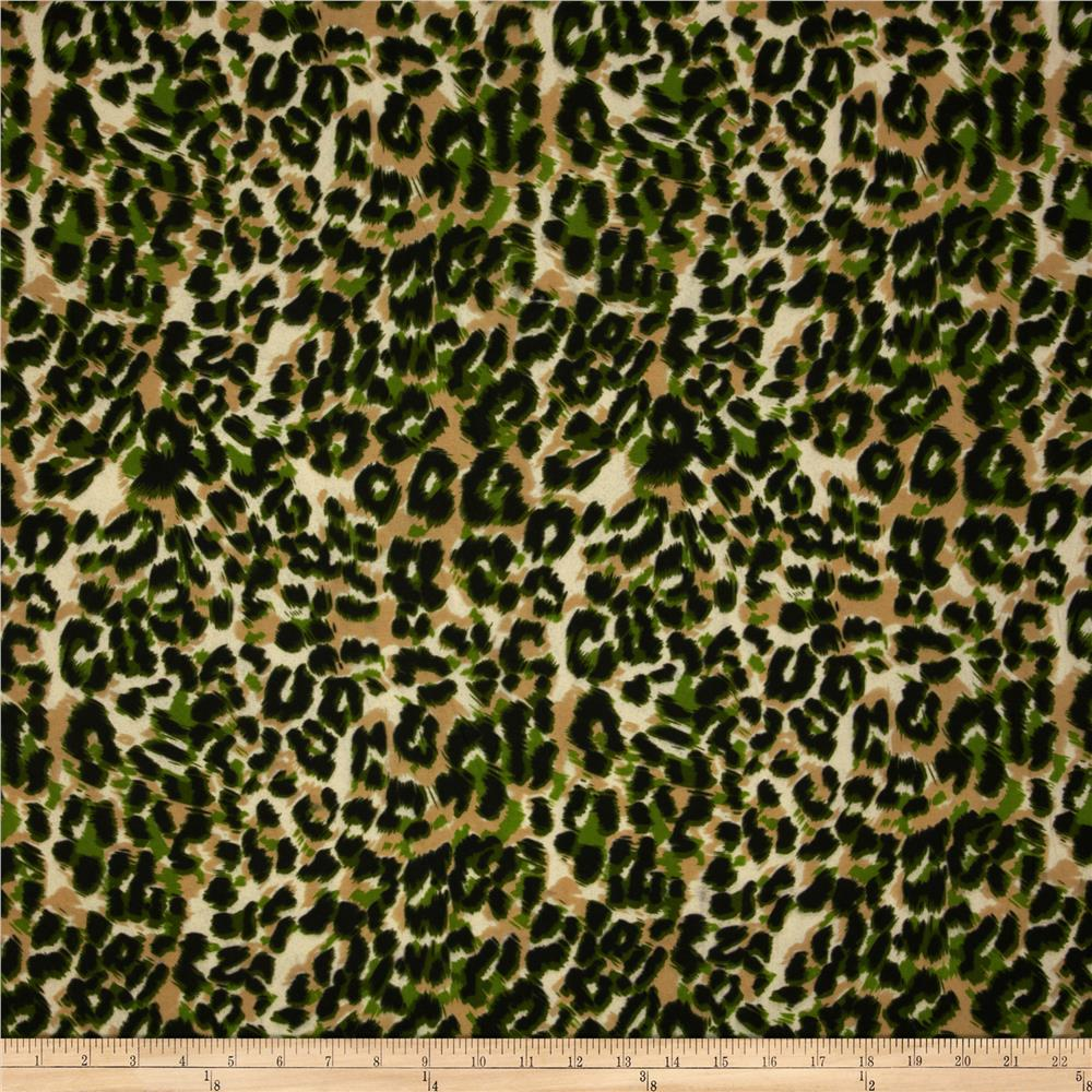 Jungle Safari Broadcloth Leopard Green