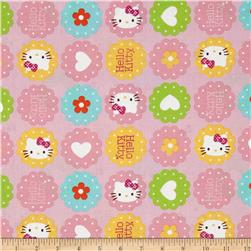 Sanrio Hello Kitty Hearts and Flowers Toss Pink