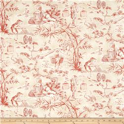 Waverly Haiku Toile Chintz Lantern Red