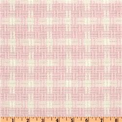 Yarn Dyed Rayon Suiting Plaid White/Pink