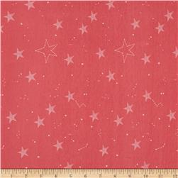 Michael Miller Magic Jersey Knit Lucky Stars Coral