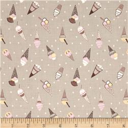 Picnic In The Park Ice Cream Cones Taupe