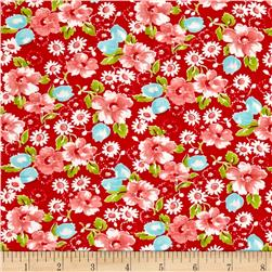 Moda Little Ruby Little Swoon Red