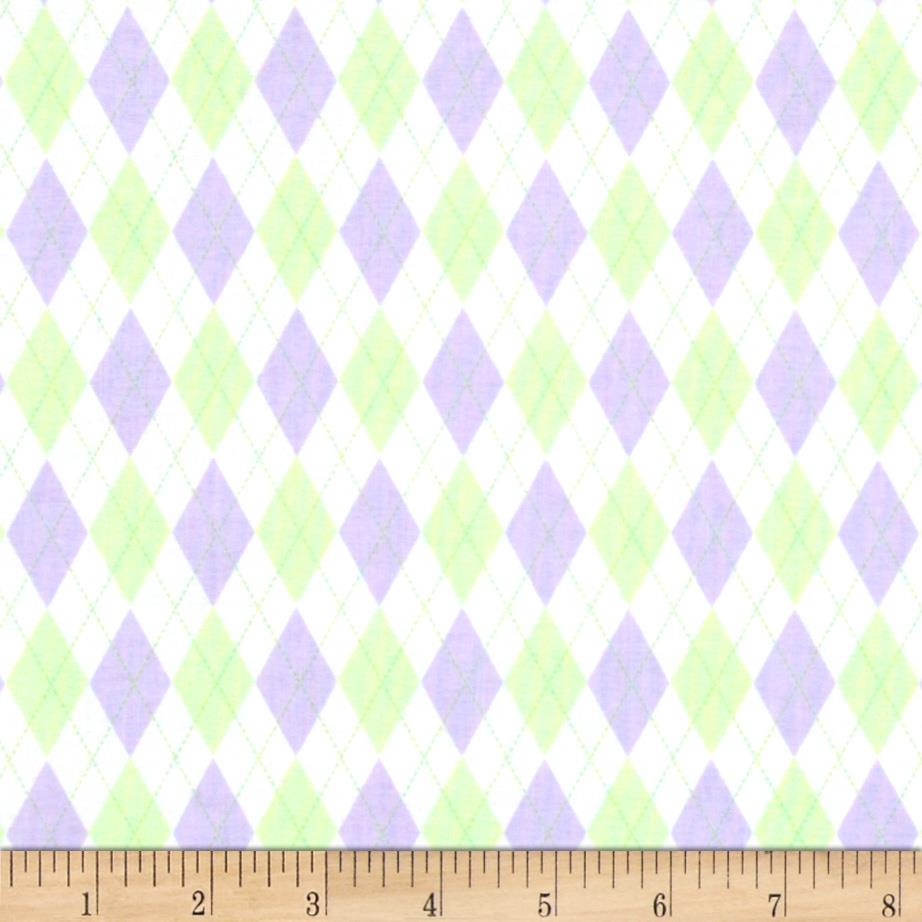 In The Nest Mini Argyle Mint/Purple
