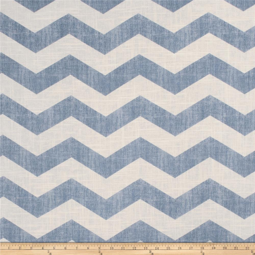 Jaclyn Smith 02603 Chevron Blend Chambray
