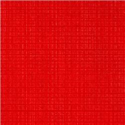 Fleece Backed Tablecloth Red