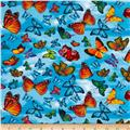 Timeless Treasures Butterflies Blue