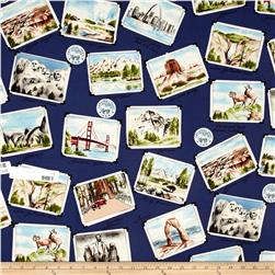 National Parks Postcards Blue
