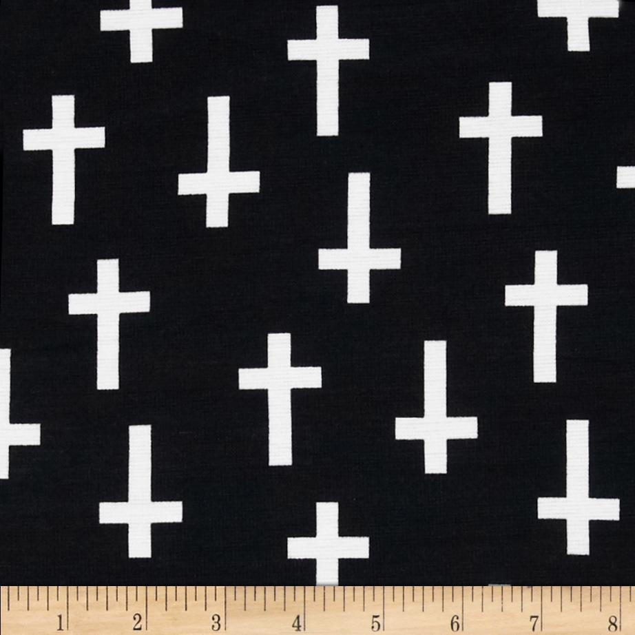 Ponte De Roma Knit Crosses Black/White