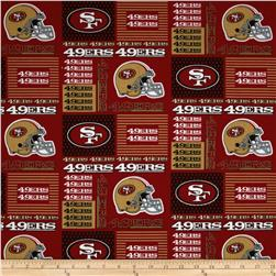 NFL Cotton Broadcloth San Francisco 49ers Patchwork Red