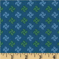 Color Love Small Medallion Teal Fabric