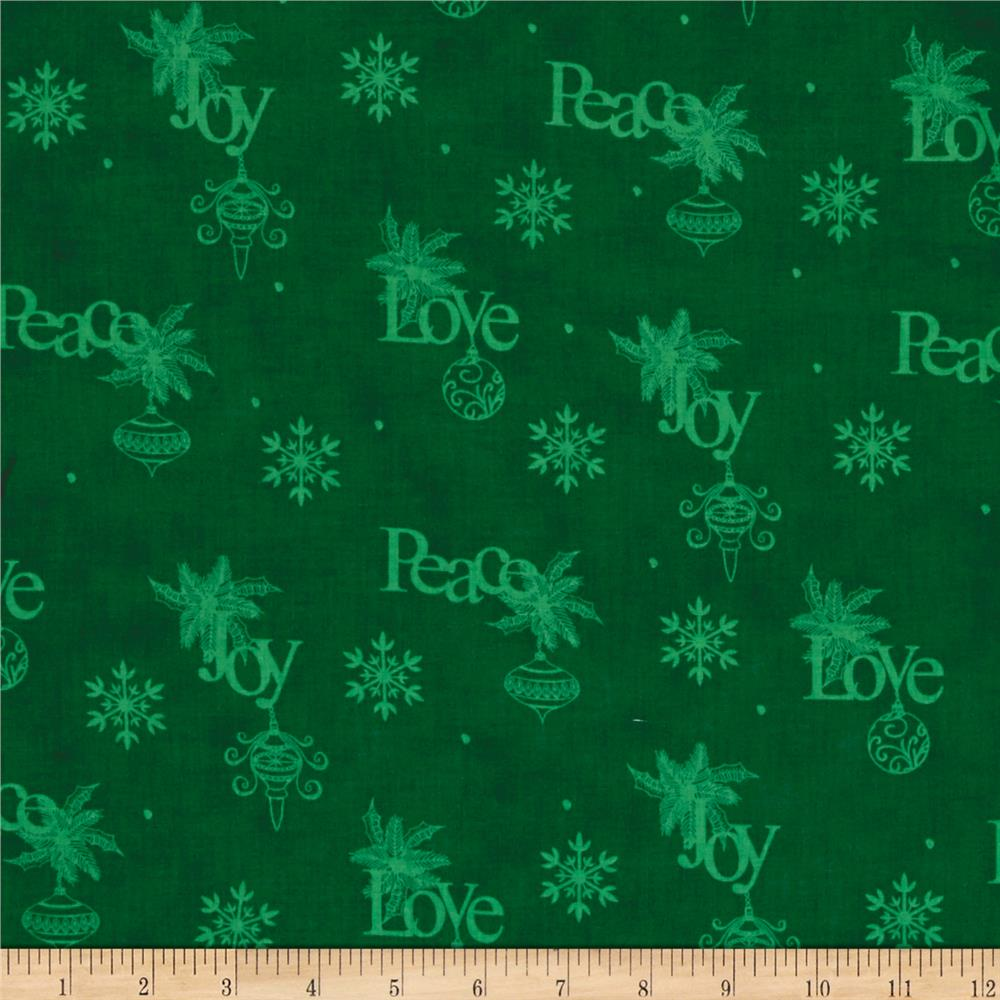Christmas Wishes Wrapping Paper Evergreen
