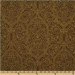 Shantung Flourish Gold/Tan