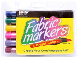 Marvy Uchida Fabric Marker Brush Tip Set Bright