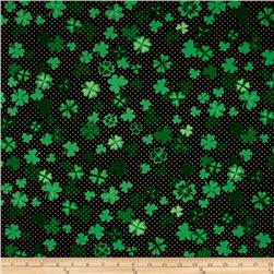 Kanvas Lucky Clovers Metallic Four Leaf Clover Black