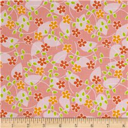 Michael Miller Quiet Time Floating Blossoms Pink Fabric