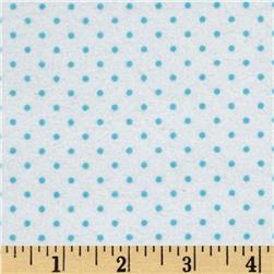 Cuddle Me Basics Flannel Small Dot Turquoise Fabric