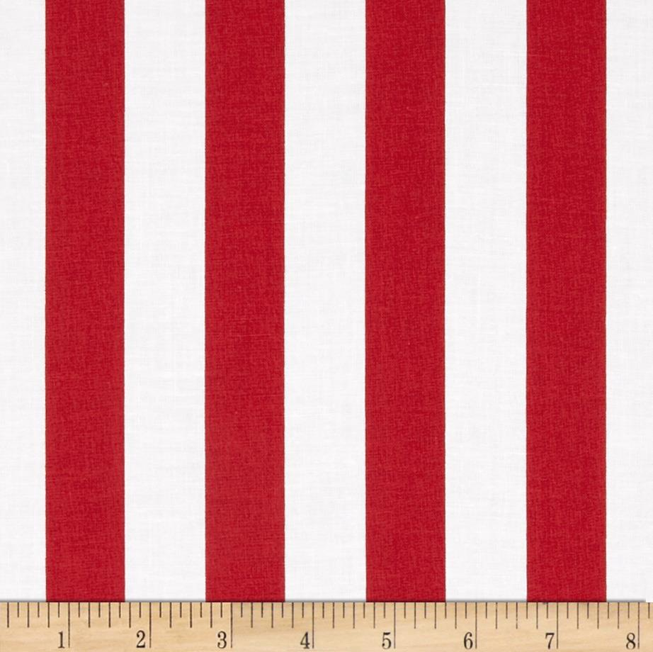 "Riley Blake 1"" Stripe Red"