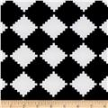Crepe Double Knit Geometric Black/White