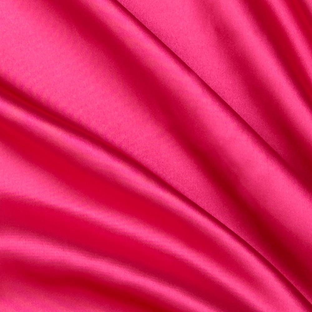Hot pink satin for Apparel fabric