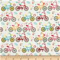 Riley Blake Girl Crazy Bikes Cream