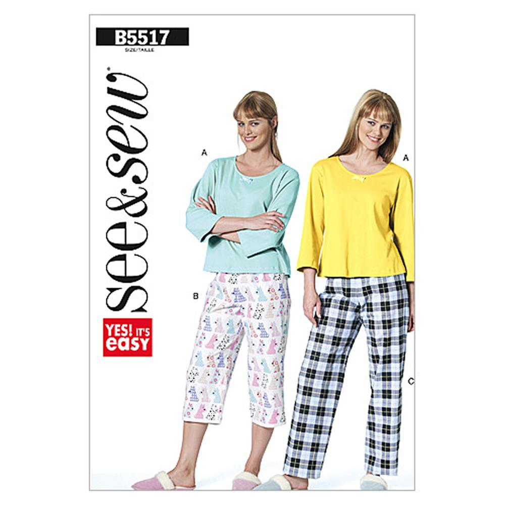 Butterick Misses'/Misses' Petite Top and Pants Pattern B5517