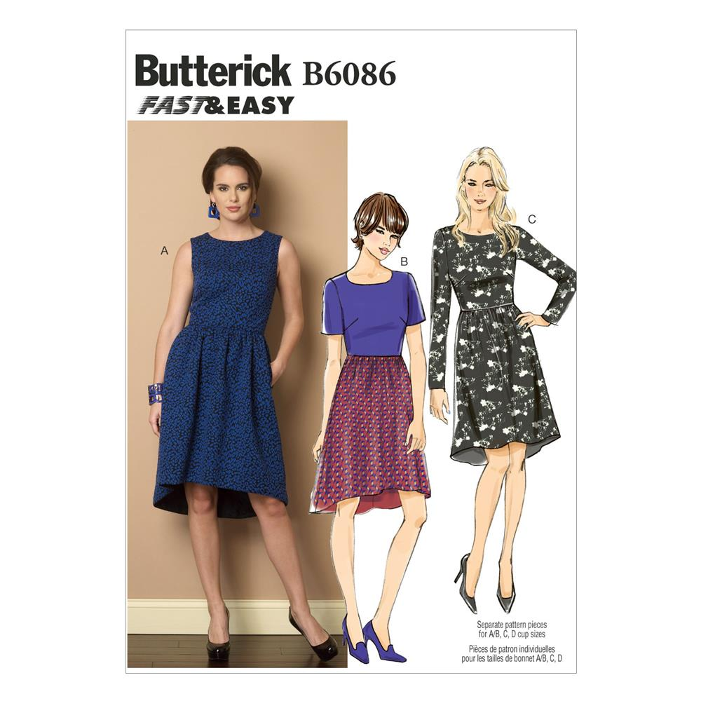 Butterick Misses' Dress Pattern B6086 Size A50