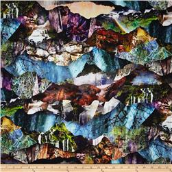 Ridge Rock Digital Print Nature Collage Rainforest