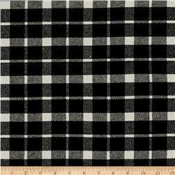 Telio Arlene Wool Plaid White/Black