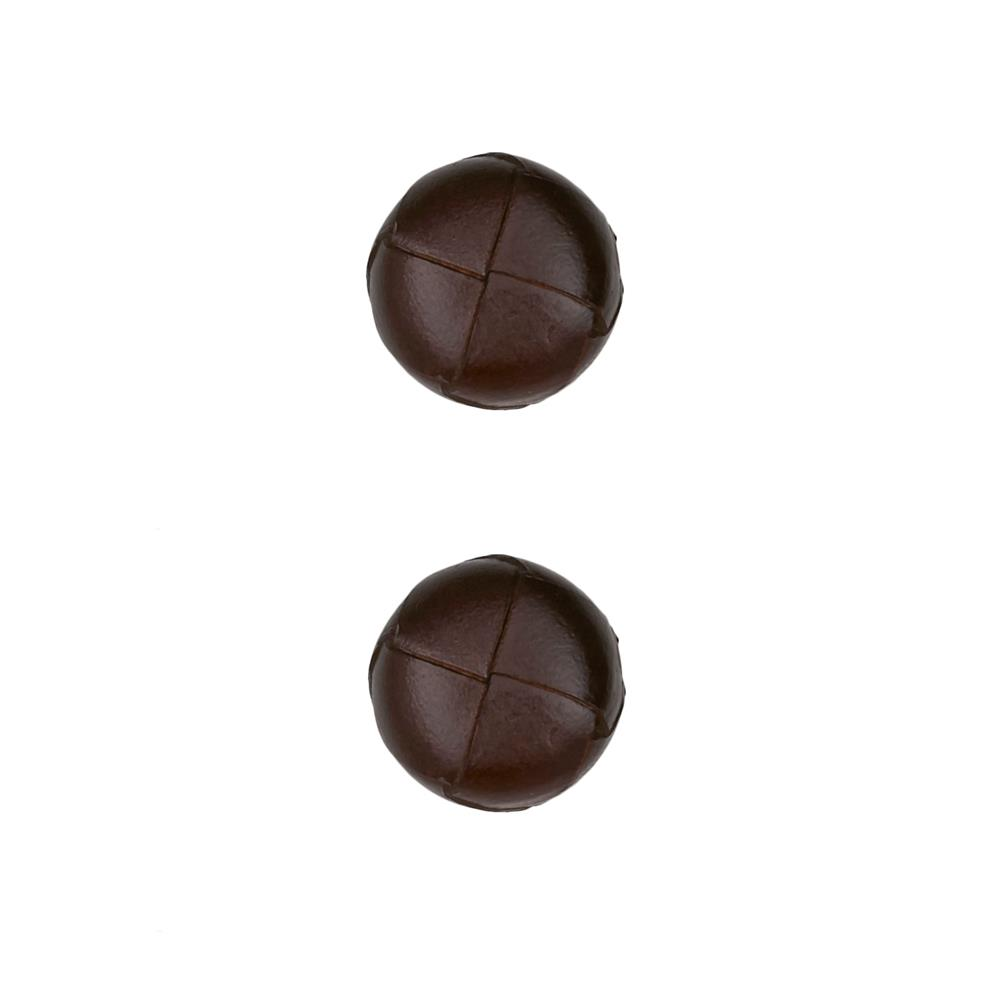 Dill Buttons 11/16'' Genuine Brown Leather Button