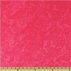 Shannon Minky Paisley Cuddle Embossed Watermelon