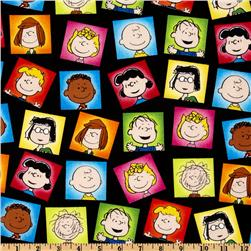 Happiness Is - Peanuts Character Frames Black