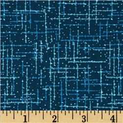 "108"" Wide Matrix Quilt Back Navy"