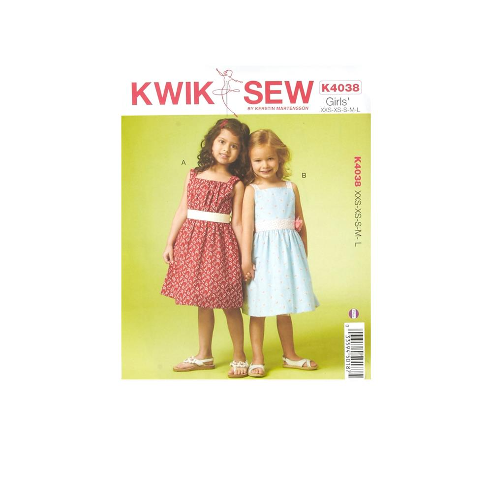 Kwik Sew Girls Dresses Pattern