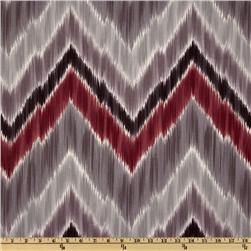 Braemore Tribal Find Ikat Chevron Wine